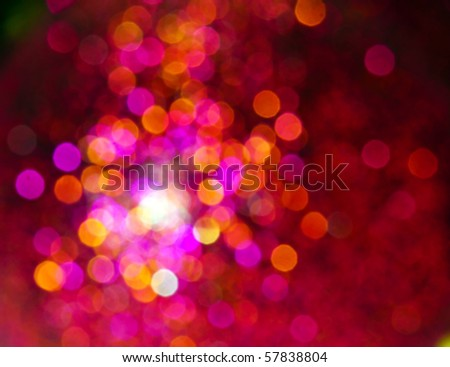 glowing Christmas light background - stock photo