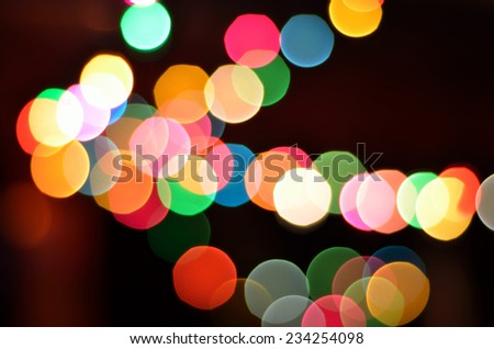 Glowing Christmas lights background - stock photo