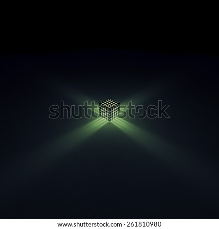 Glowing cubes - stock photo