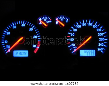 Glowing dashboard