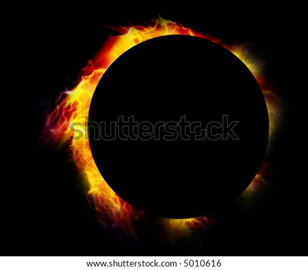Glowing eclipse - stock photo
