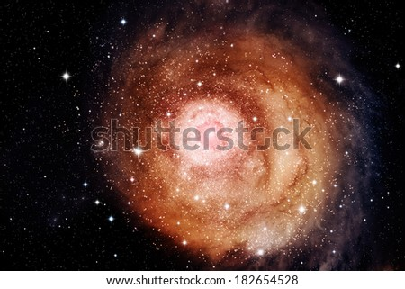 Glowing galaxy in outer space.