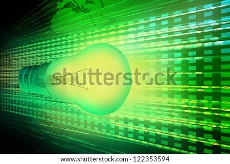 Glowing Light Bulb - stock photo