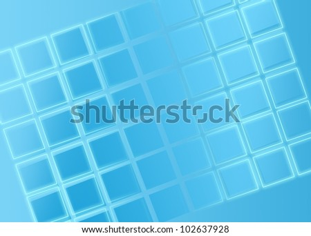 Glowing Lines and Blue Gradient Grids on  Wallpaper Background - stock photo