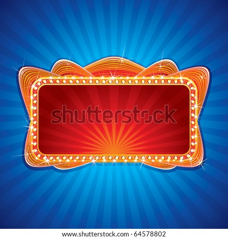 Glowing Neon Sign, Illustration for your festive design or greeting text - stock photo