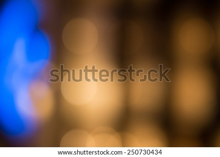 Glowing Night Lights in Diffuse Effect for Backgrounds, Emphasizing Copy Space - stock photo
