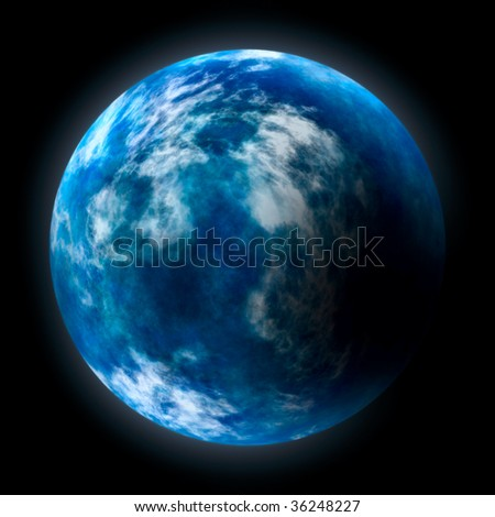 Glowing planet Earth over black background