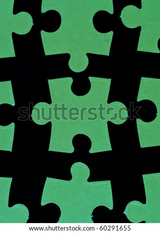 Glowing Puzzle Pieces - stock photo