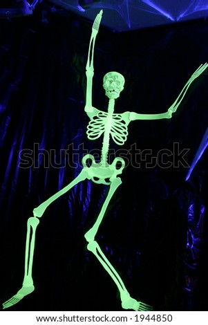 glowing skeleton - stock photo