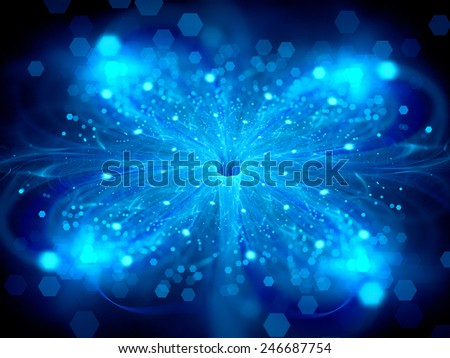 Glowing stardust at wormhole, computer generated abstract background - stock photo