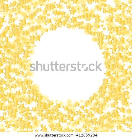 glowing stars round frame over white. raster - stock photo