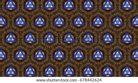 glowing tile pattern background.
