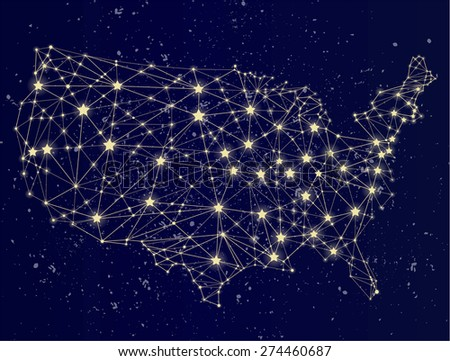 Night Map Stock Images RoyaltyFree Images Vectors Shutterstock - Us night map