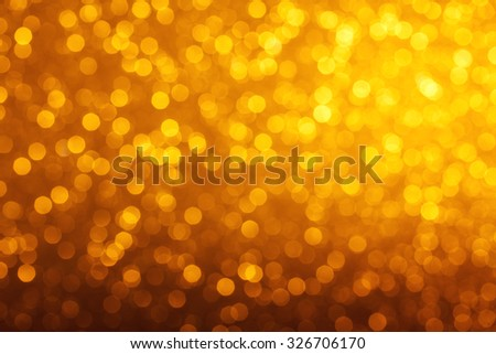 Glowing warm bokeh lights abstract background - stock photo