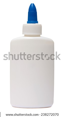 glue. plastic white bottle isolated on a white background. - stock photo