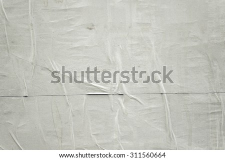 Glued Rustic Blank Poster Paper as Copy Space, Retro Toned Vintage Effect - stock photo