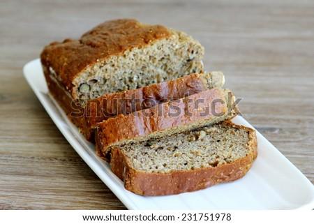 Gluten free banana bread  - stock photo