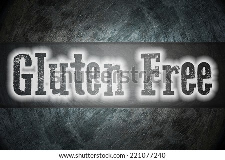 Gluten Free Concept text on background - stock photo