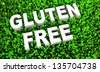 Gluten Free Food Concept on Natural Grass in 3D - stock vector