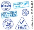 Gluten free food. Rubber stamp illustrations - stock vector