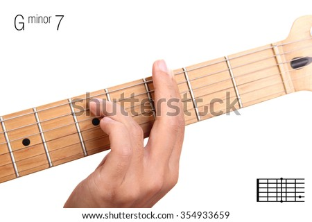 Gm 7 Minor Seventh Keys Guitar Tutorial Stock Photo Download Now
