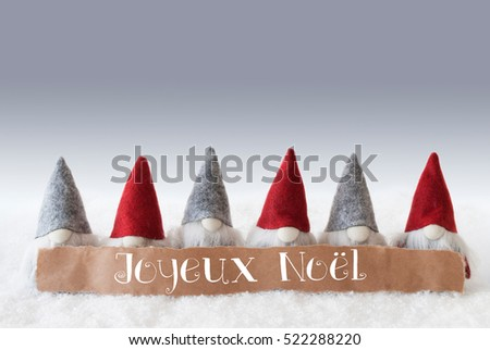 Gnomes, Green Background, Joyeux Noel Means Merry Christmas