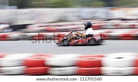 Go cart racer - stock photo