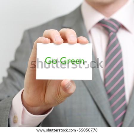 Go green - stock photo