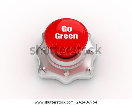 go green button - stock photo