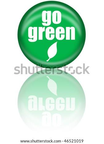 Go Green Button - stock photo