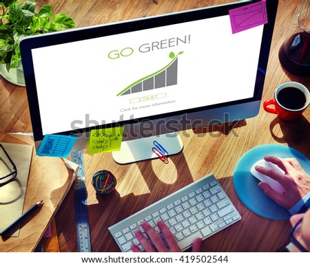 Go Green Conservation Natural Resources Eco Concept - stock photo
