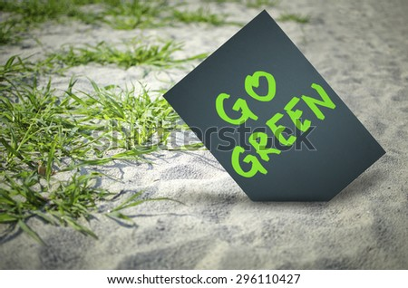 Go green. Eco concept.