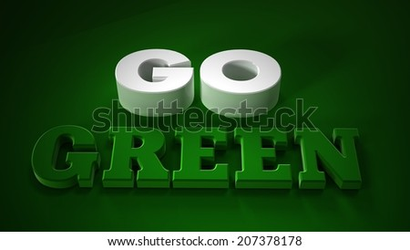 go green  symbol style design.  - stock photo