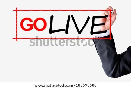 Go live project concept - stock photo