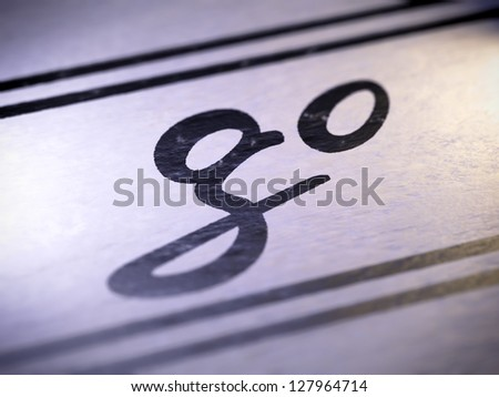 Go ( my own font )  Full collection of icons like that is in my portfolio - stock photo