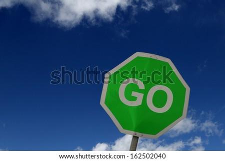 Go Sign - stock photo