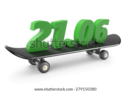 go skateboarding day concept isolated on white background - stock photo