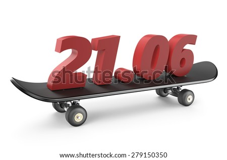 go skateboarding day 21 june concept - stock photo