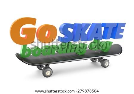 go skateboarding day 21 june concept - stock photo