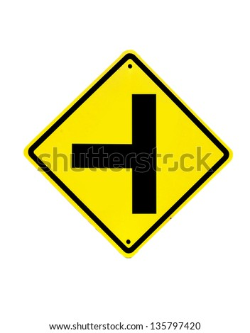 go straight traffic sign on white - stock photo