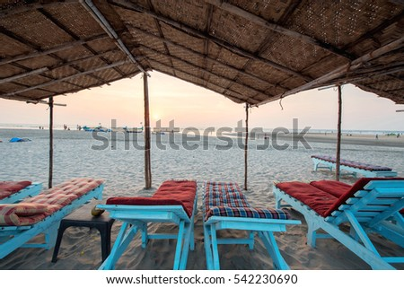 goa beach awning