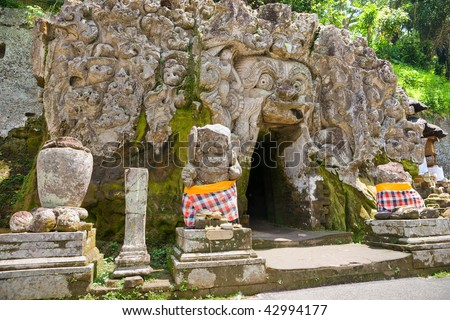Goa Gajah Temple, Ubud, Bali, Indonesia. - stock photo