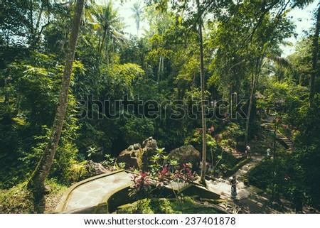 Goa Gajah, Ubud, Bali, Indonesia - stock photo