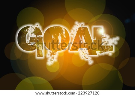 Goal Concept text on background