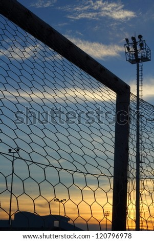 Goal football - stock photo