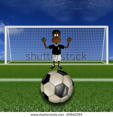 goal in the cage - stock photo