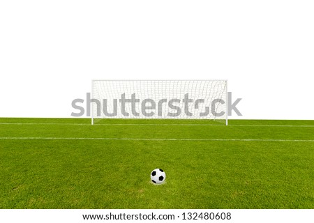 Goal isolated on white - stock photo