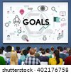 Goals Aim Aspiration Believe Dreams Expectations Concept - stock photo