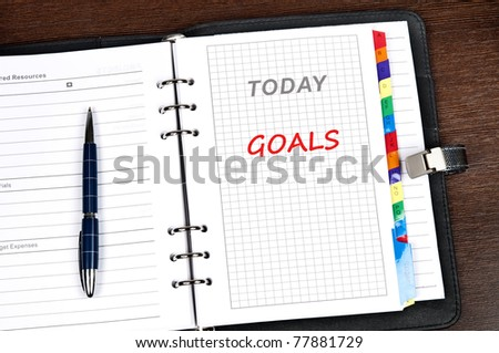 Goals message on today page