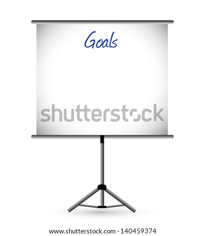 goals presentation board illustration design over a white background - stock photo
